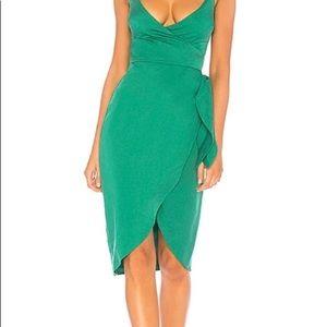 """Lover + Friends """"Lucky Charm"""" green dress."""